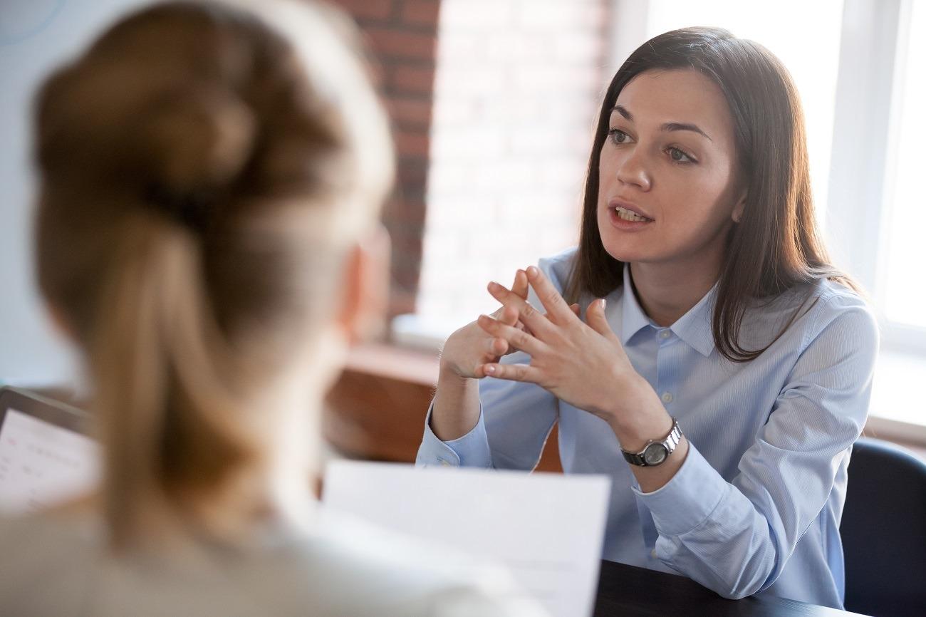 rozmowa kobiety